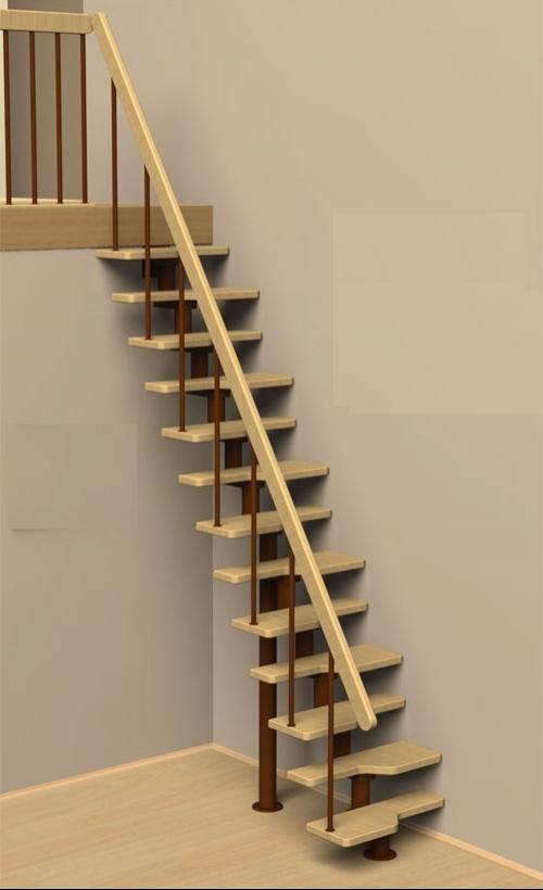 Лестницы утиный шаг на второй этаж