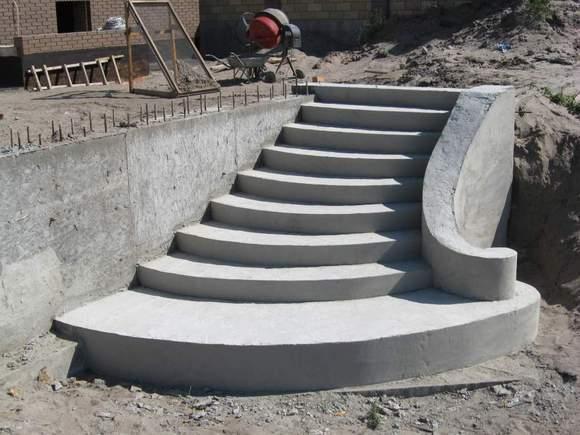 Лестницы из бетона фото